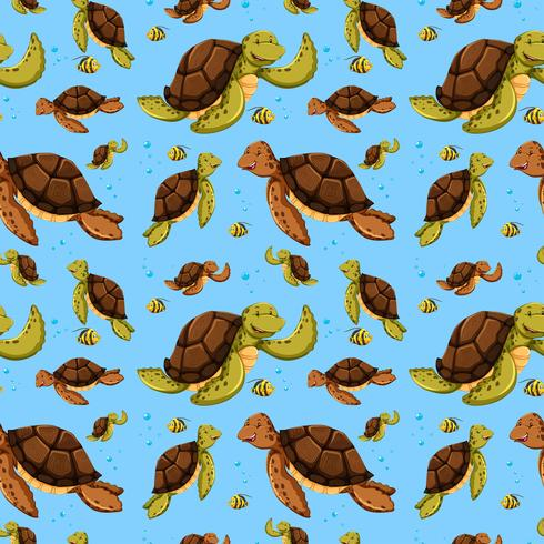 Nahtloses Muster der Meeresschildkröte