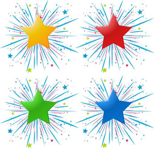 Conception d'icônes avec des étoiles de couleurs différentes