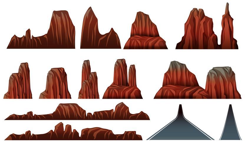 Verschillende patronen van canyons en wegen