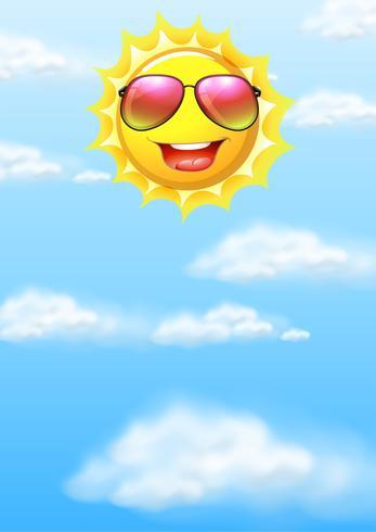Een gelukkige zon op hemel