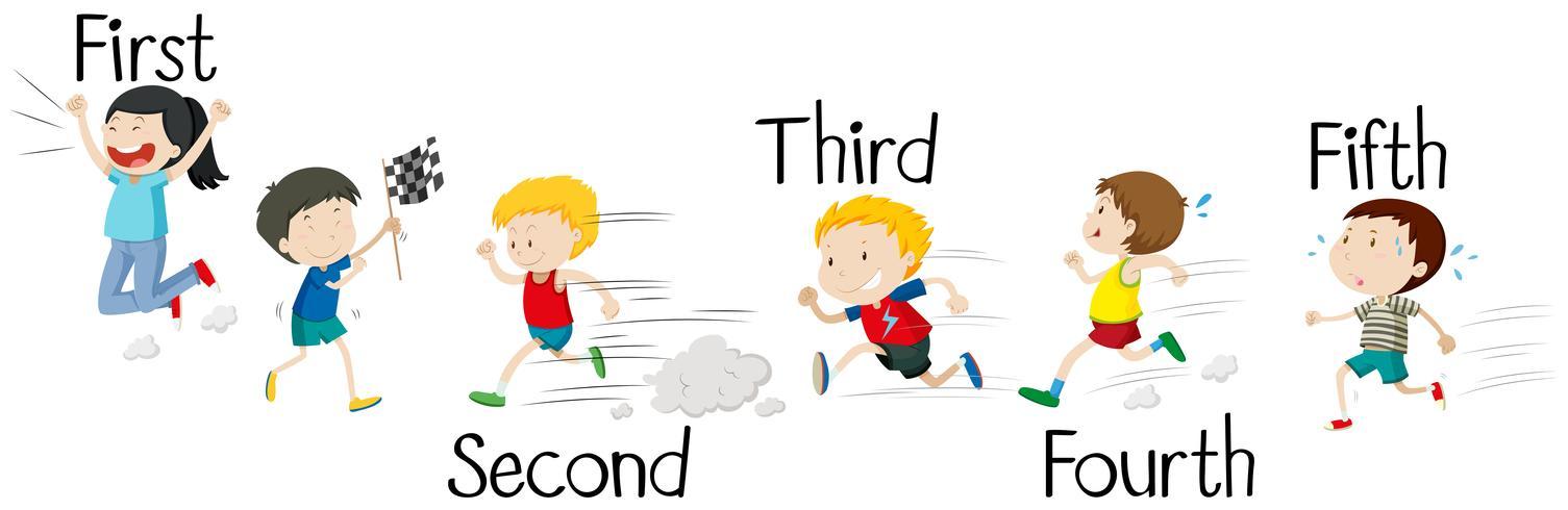 Kinderen lopen in de race