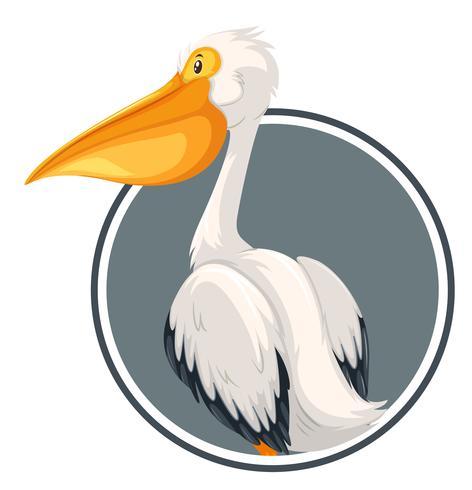 Pelikan auf Kreisfahne