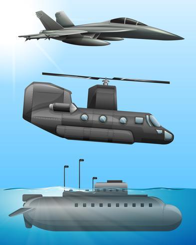 Transporte aéreo y marítimo del ejército