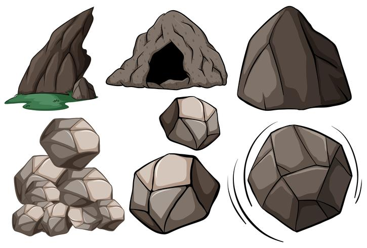 Cave and rocks