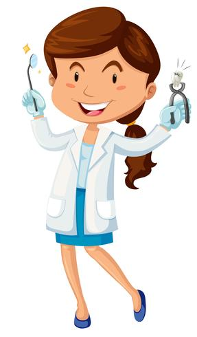 Female dentist with equipment - Download Free Vector Art, Stock Graphics & Images