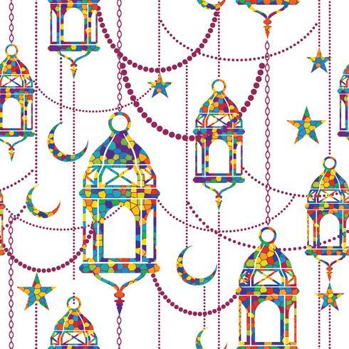 Ramadan-Hintergrund Vektor nahtlose Muster