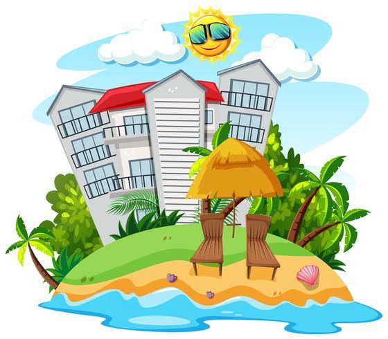 Gebäude auf der schönen Insel