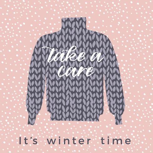 Winter illustratie. Vectorontwerp voor kaart, affiche, vlieger, Web vector