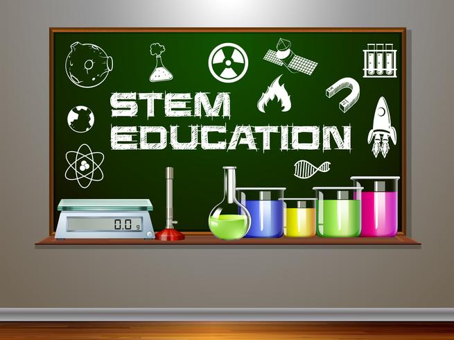 STAM-onderwijs op bord