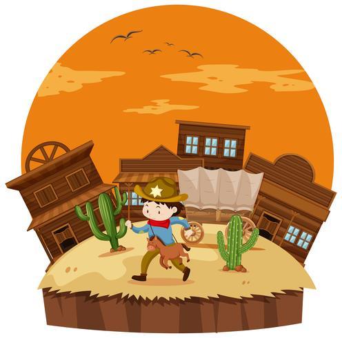 Cowboy na cidade ocidental