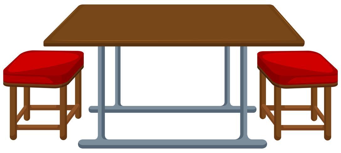 Mesa y sillas de comedor.