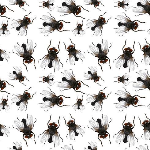 Nahtloses Muster der Fliegen