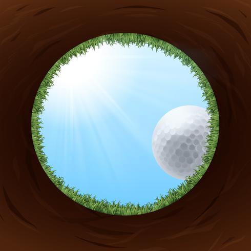 Ein Golfloch von unten vektor