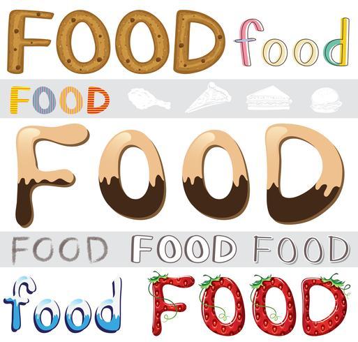 Conjunto de ilustraciones de alimentos