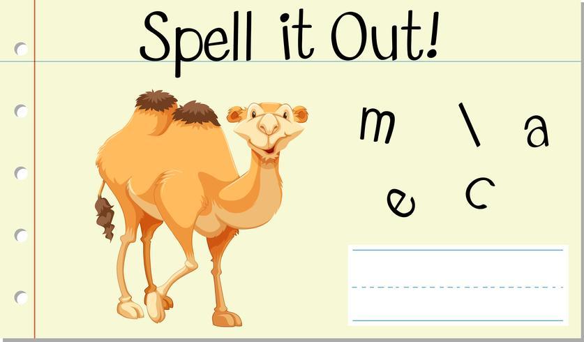 Englisches Wort Kamel buchstabieren
