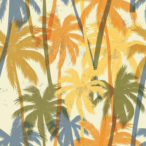 Tropische zomerdruk met palm.