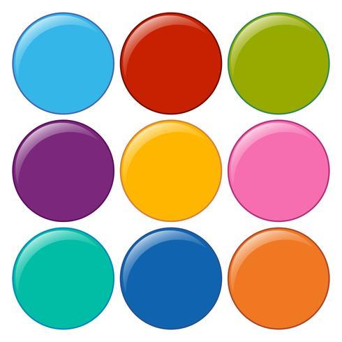 Leere runde Symbole