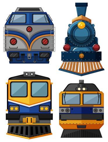 Diferentes tipos de trenes vector