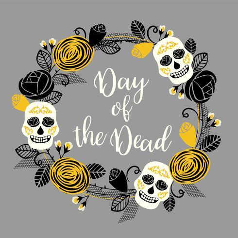 Dia de los muertos. Le jour des morts. Élément de design vectoriel