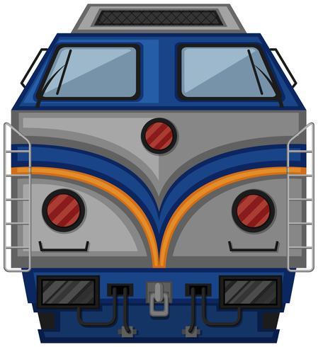 Progettazione del treno grigio su sfondo bianco