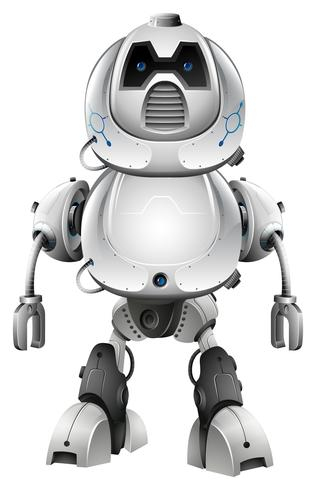Design de tecnologia para robô vetor