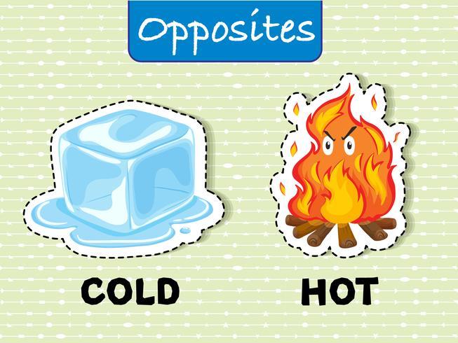 Gegensätzliche Wörter für kalt und heiß