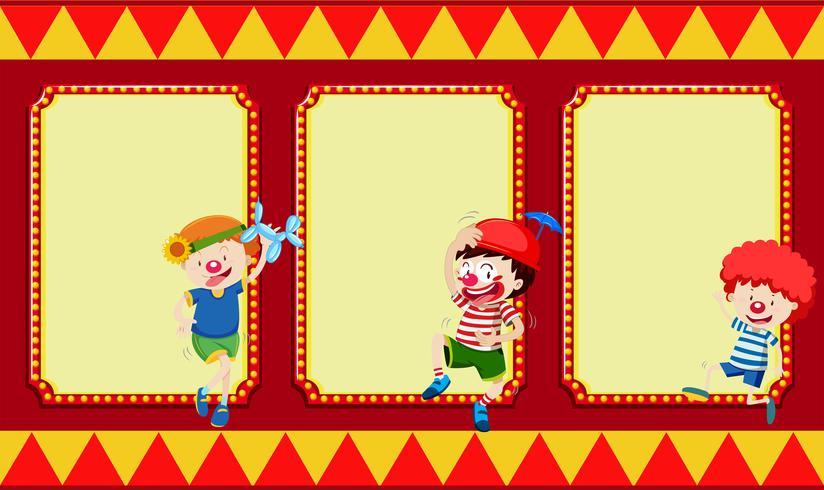 Lege banners met circuskinderen
