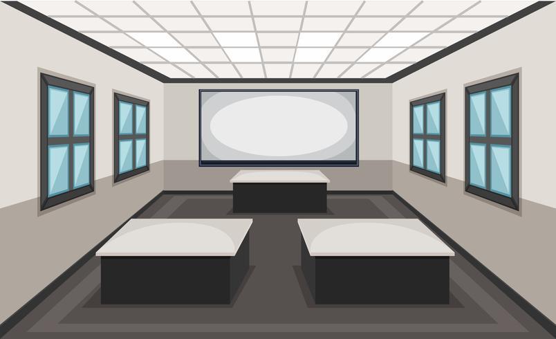 Innenraum der Klassenzimmerszene