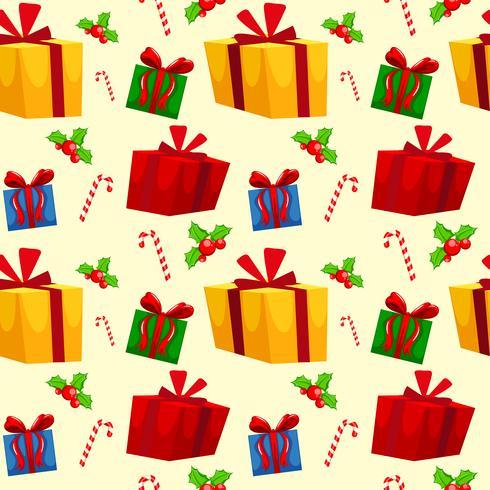 Carta da parati senza cuciture di tema di Natale vettore