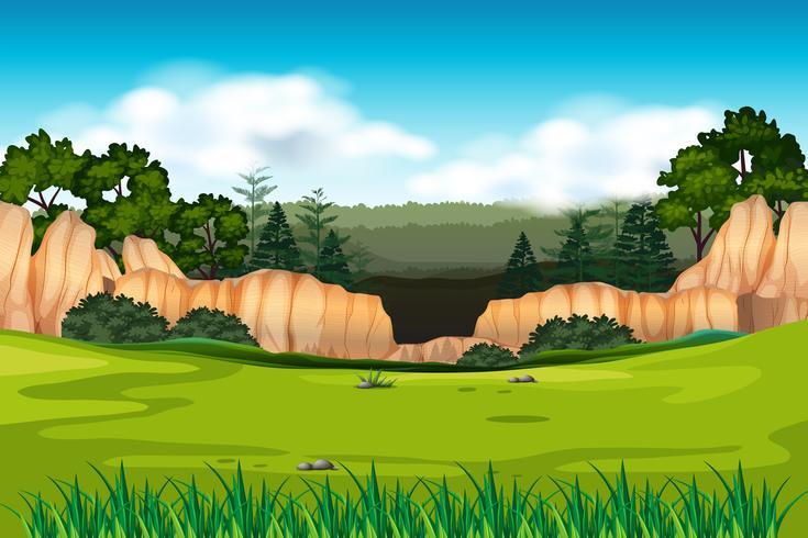 Scena di sfondo verde ambientale