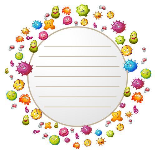 Design de frontière avec des bactéries