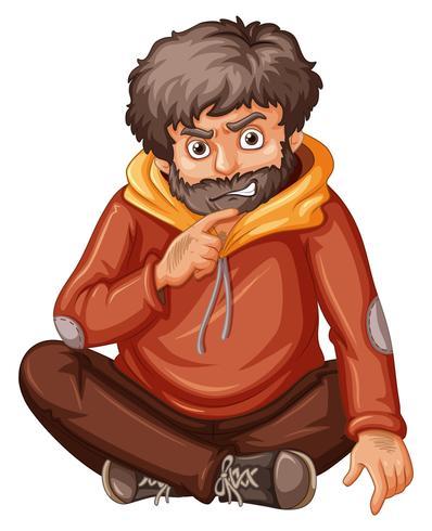 Homme à la barbe brune