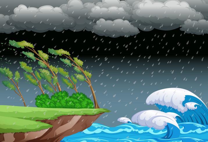 Eine stürmische Nacht Hintergrund