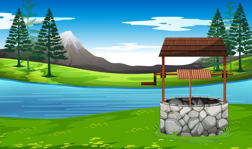 Bene nel paesaggio naturale