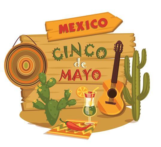 Cinco de Mayo. Vector illustration.
