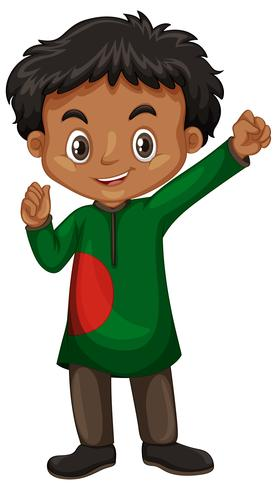 Bangladesh jongen in kostuum
