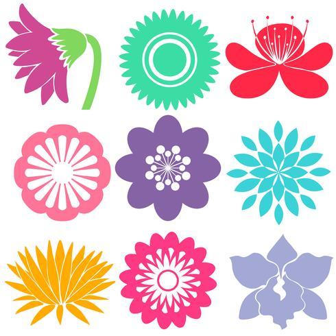 Neun florale Vorlagen