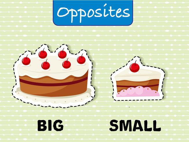 Gegensätzliche Wörter für Groß und Klein
