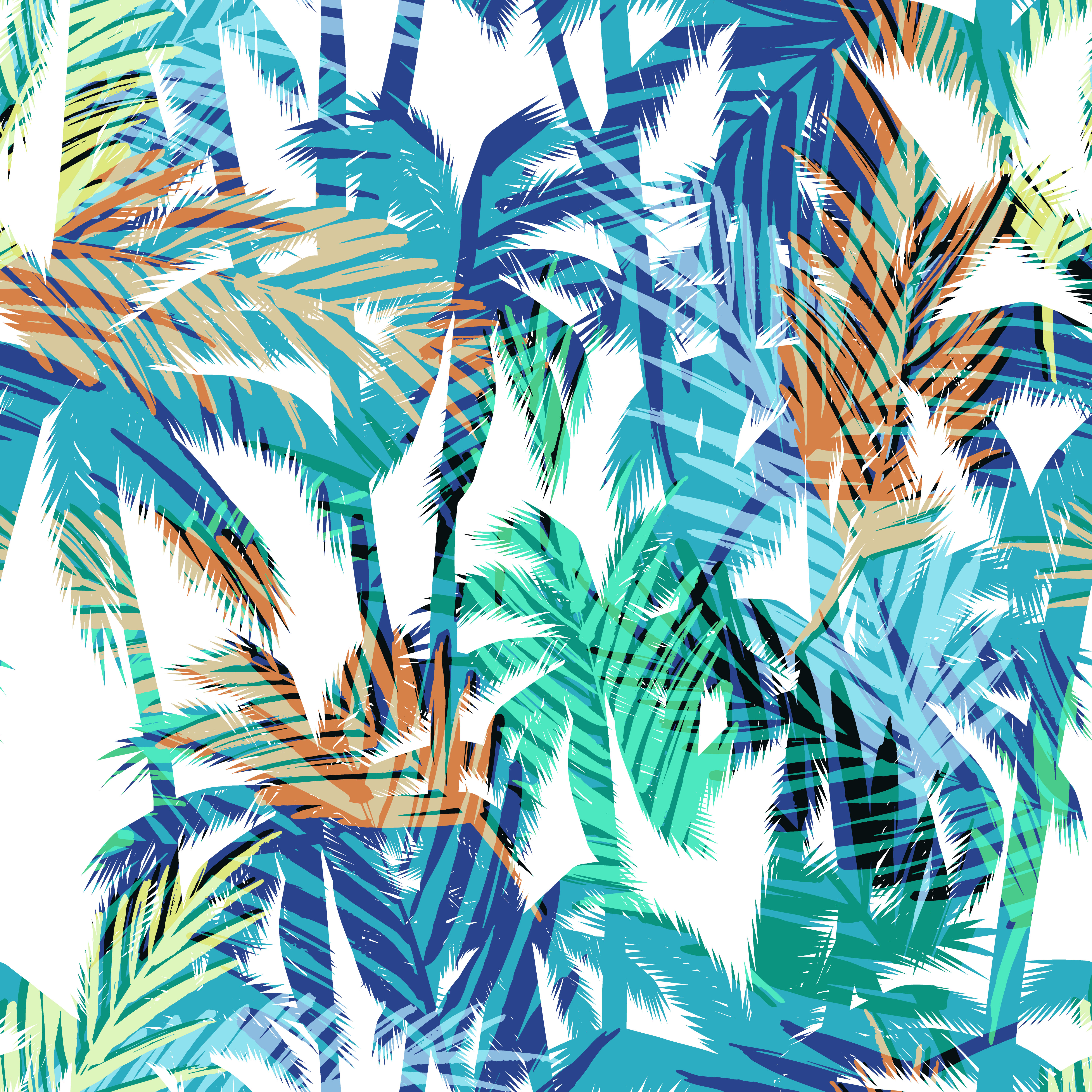 Tropical summer print with palm. - Download Free Vectors ...
