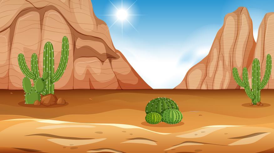 Een dag van de dag van de woestijn scene