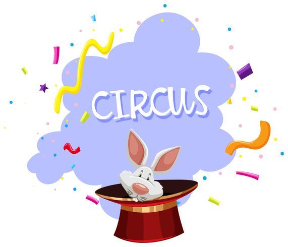 En kanin Magic Trick Circus