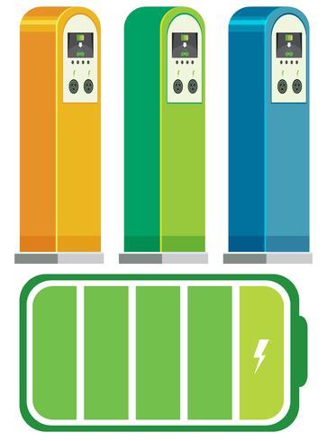 Elektriska bil laddstationer koncept