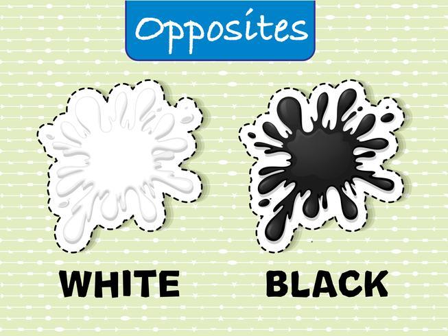 Parole opposte per bianco e nero