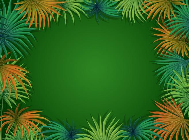 Een mooie palmbladsjabloon