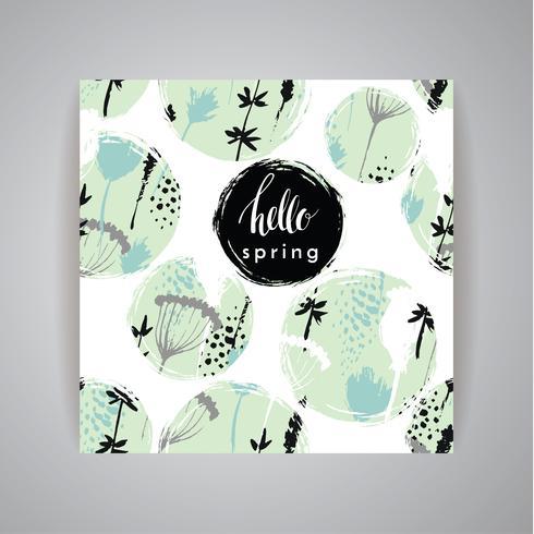 Artistic creative Hand Drawn design de primavera