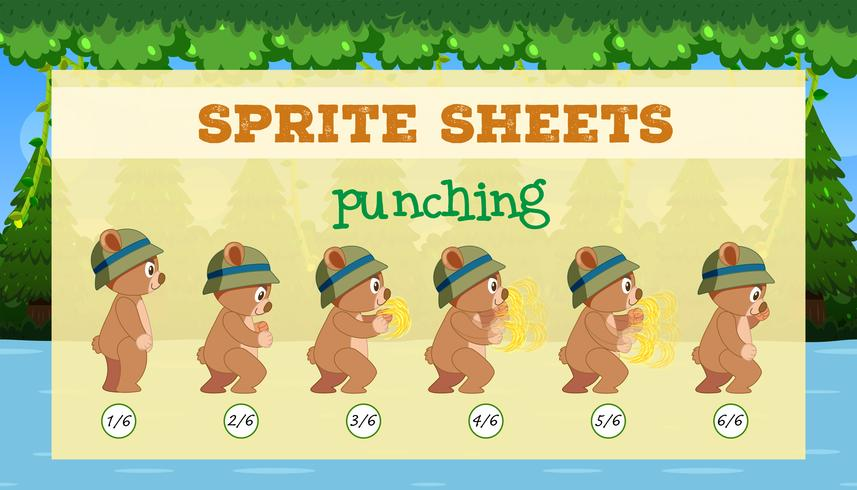 En sprite sheet punching spelmall