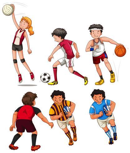 Pessoas, fazendo, diferente, esportes