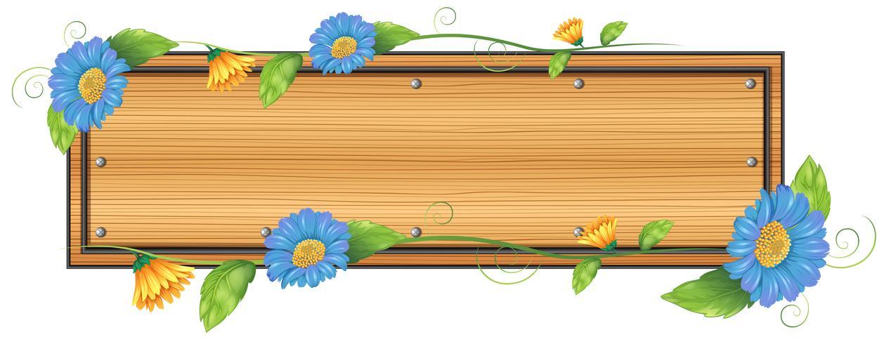 Een leeg bord met bloemen