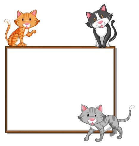 Gränsmall med tre katter