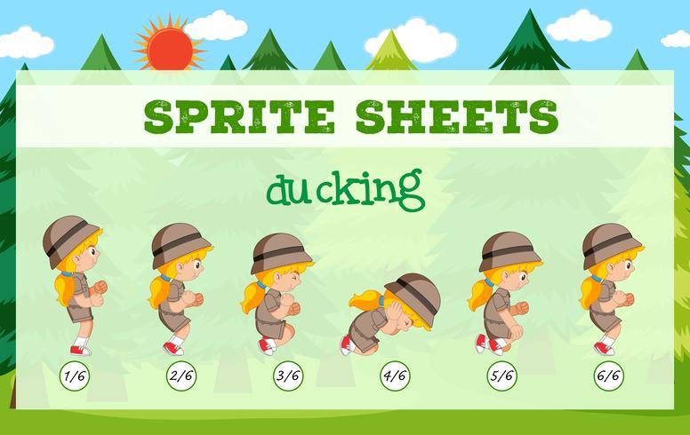 Modelo de ducking de folhas de Sprite